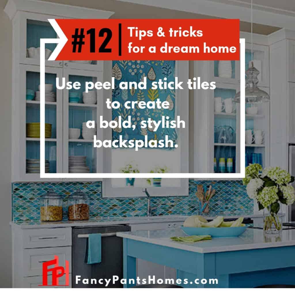 home decor hack update your backsplash with stick tiles