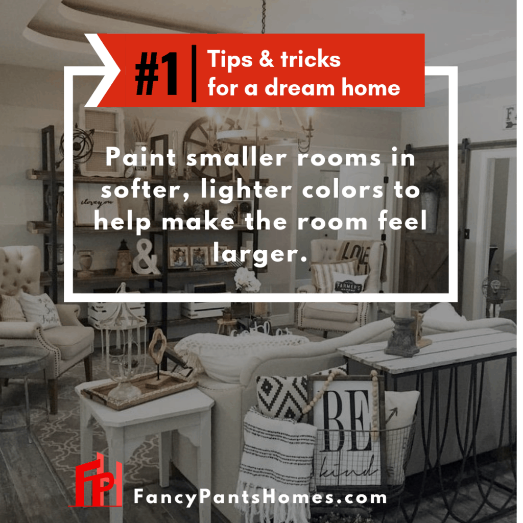 home decor tip paint small rooms in light colors