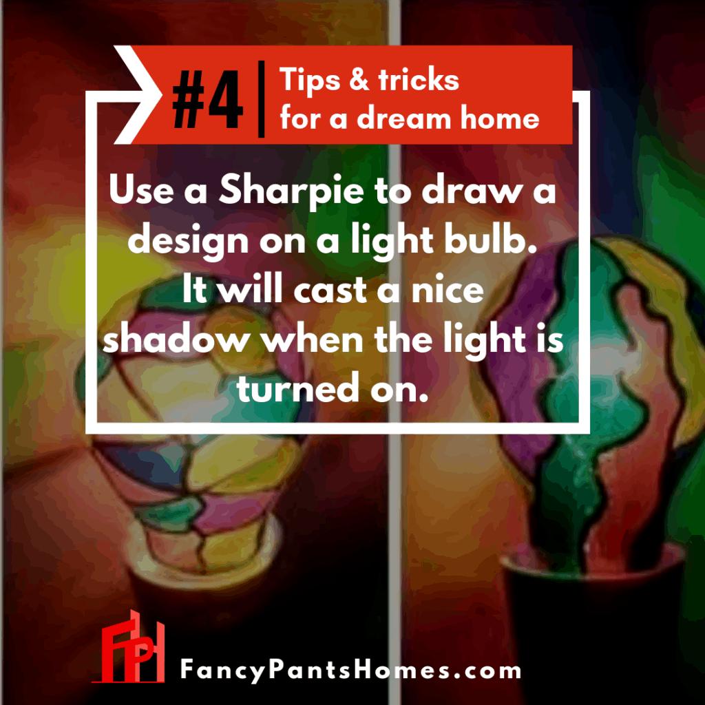 home decor tip painting a lightbulb