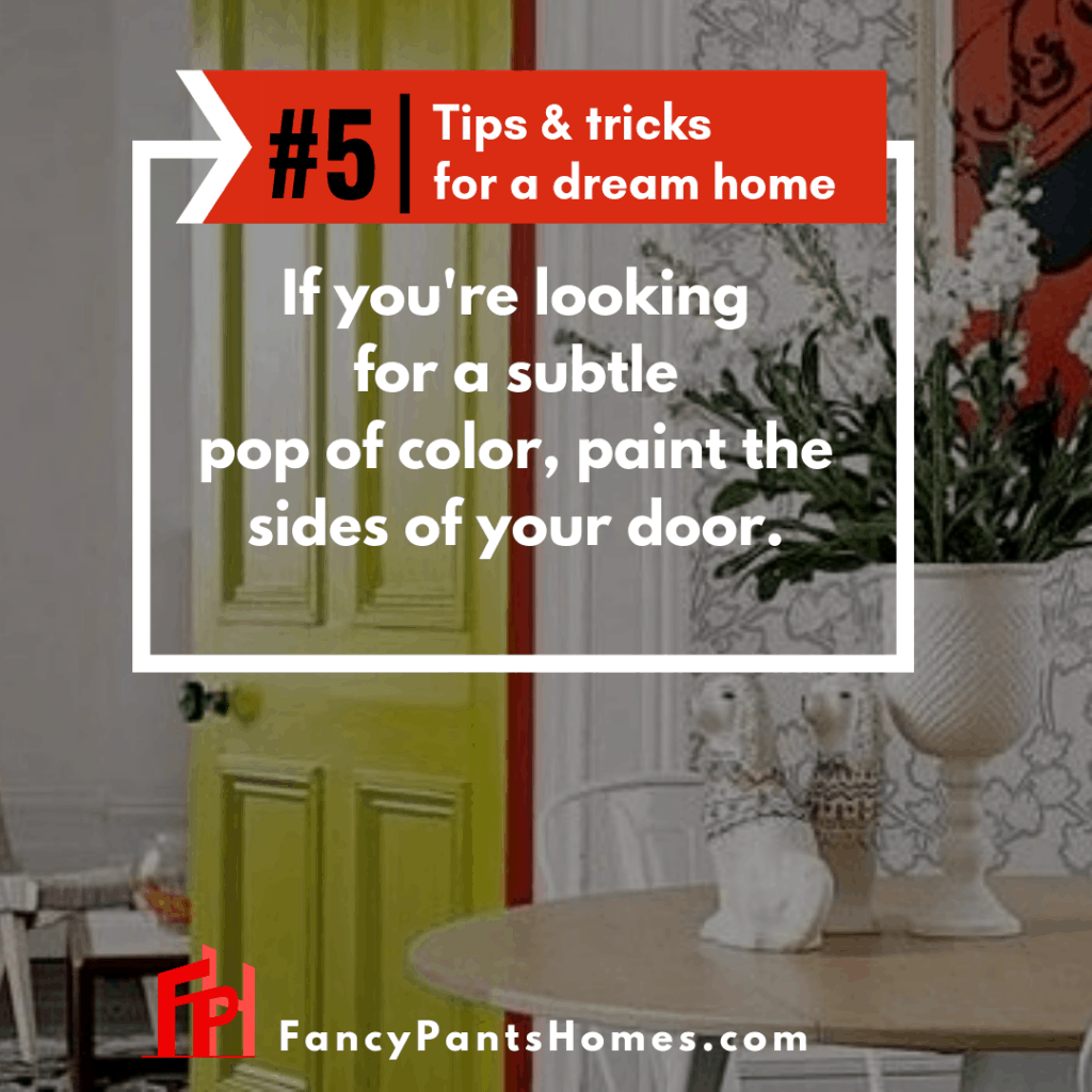 home decor tip painting the side of the door