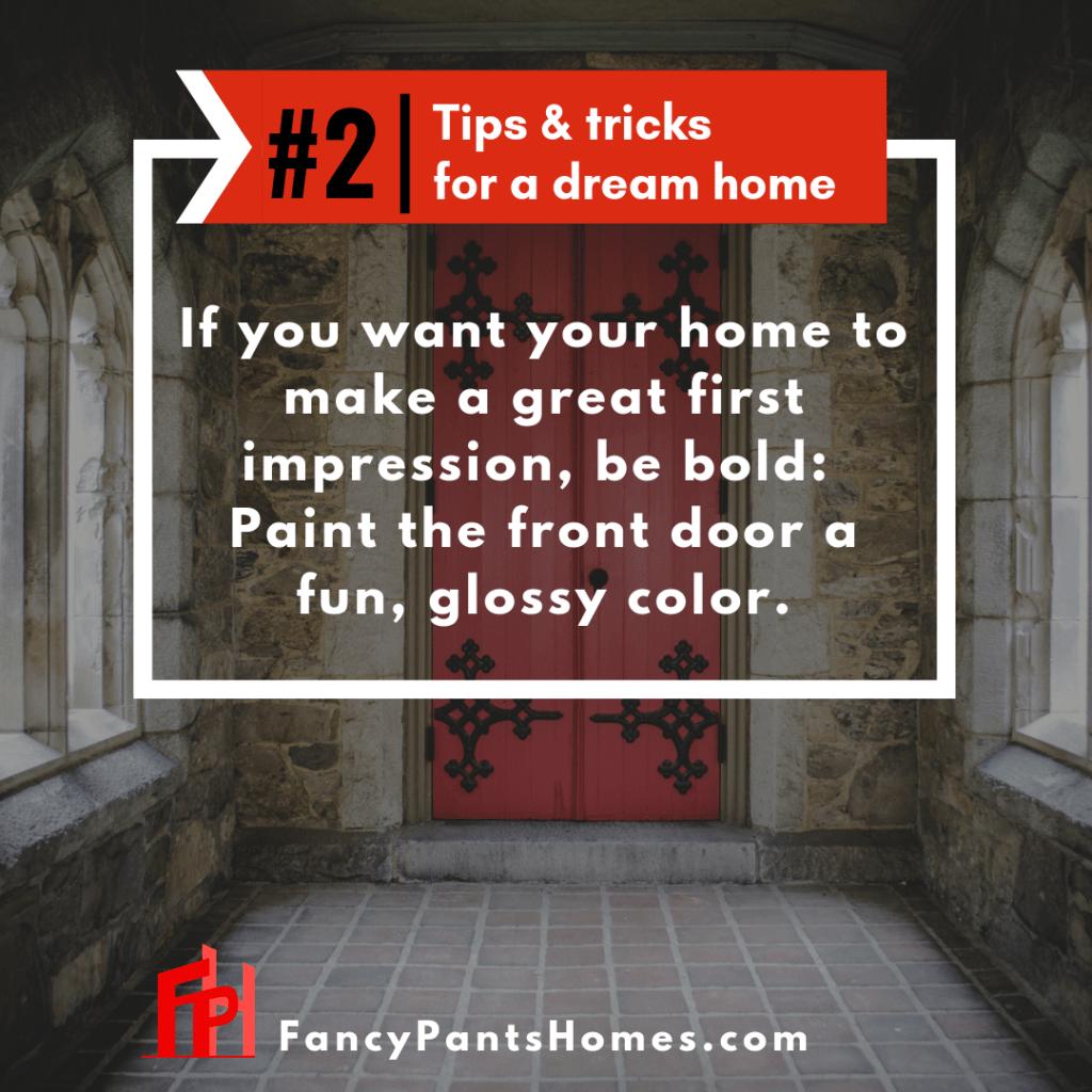 home decor trick paint front door in vibrant color