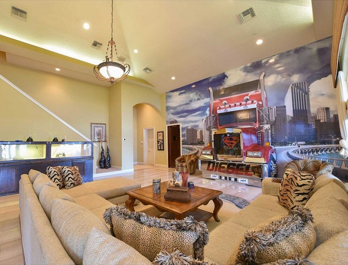 shaquille-oneal-home-tractor-driving-living-room