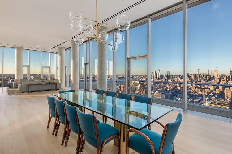 56 leonard penthouse floor 53 dining room