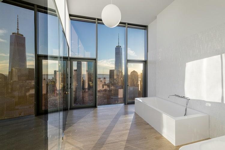 56 leonard penthouse floor 53 views of NYC