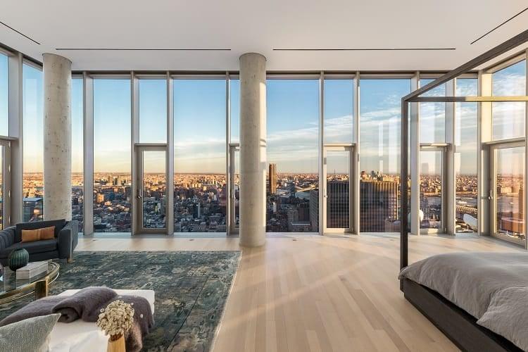 56 leonard penthouse bedroom views