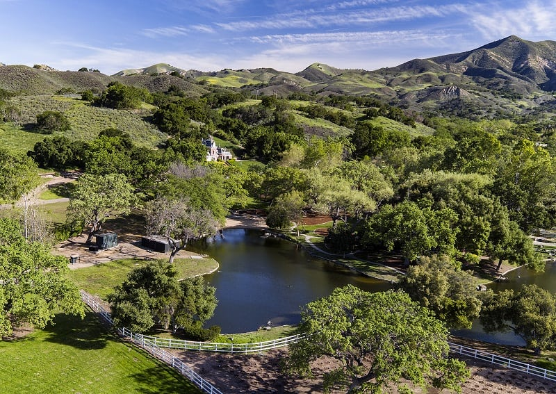 neverland ranch now sycamore valley ranch aerial view