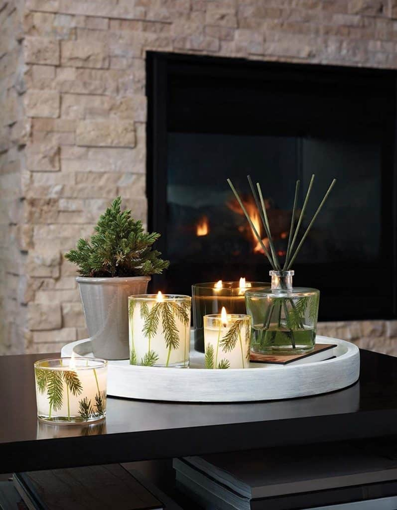 thymes frasier fir pine needle decorative candle amazon