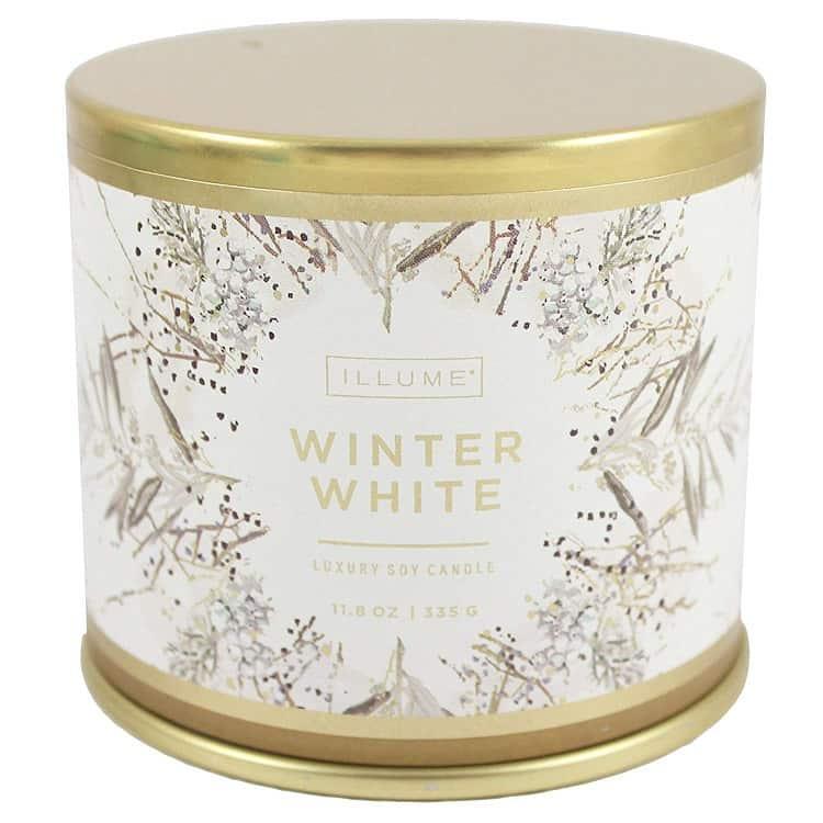 white luxury soy candle