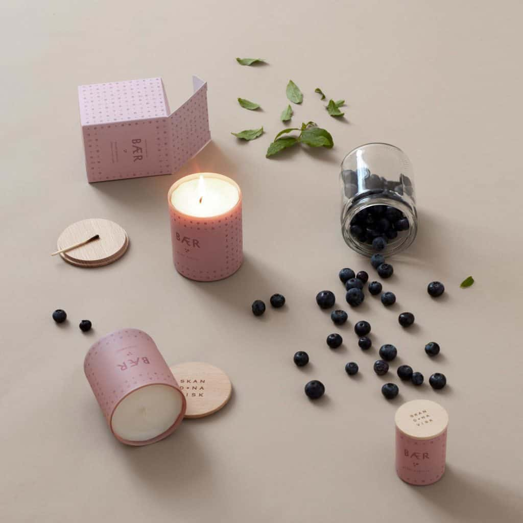 scandinavian design candle