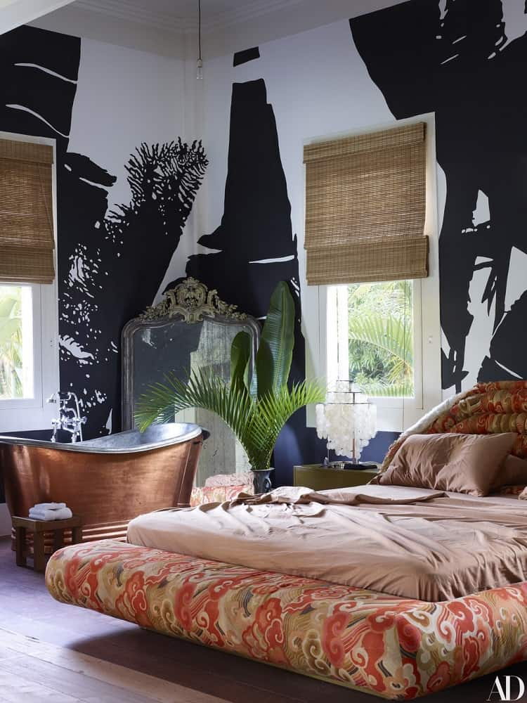 lenny kravitz's house interiors in brazil: bedroom