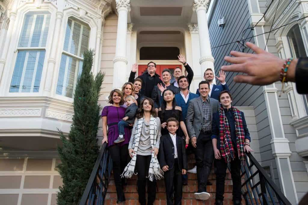 fuller house cast in front of full house real life home