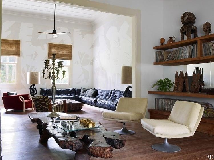 lenny kravitz's house interiors in brazil: living room