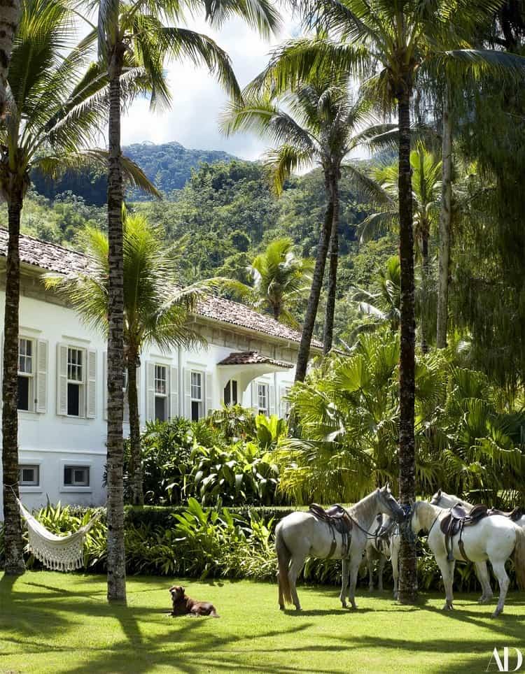 outside lenny kravitz's house in brazil