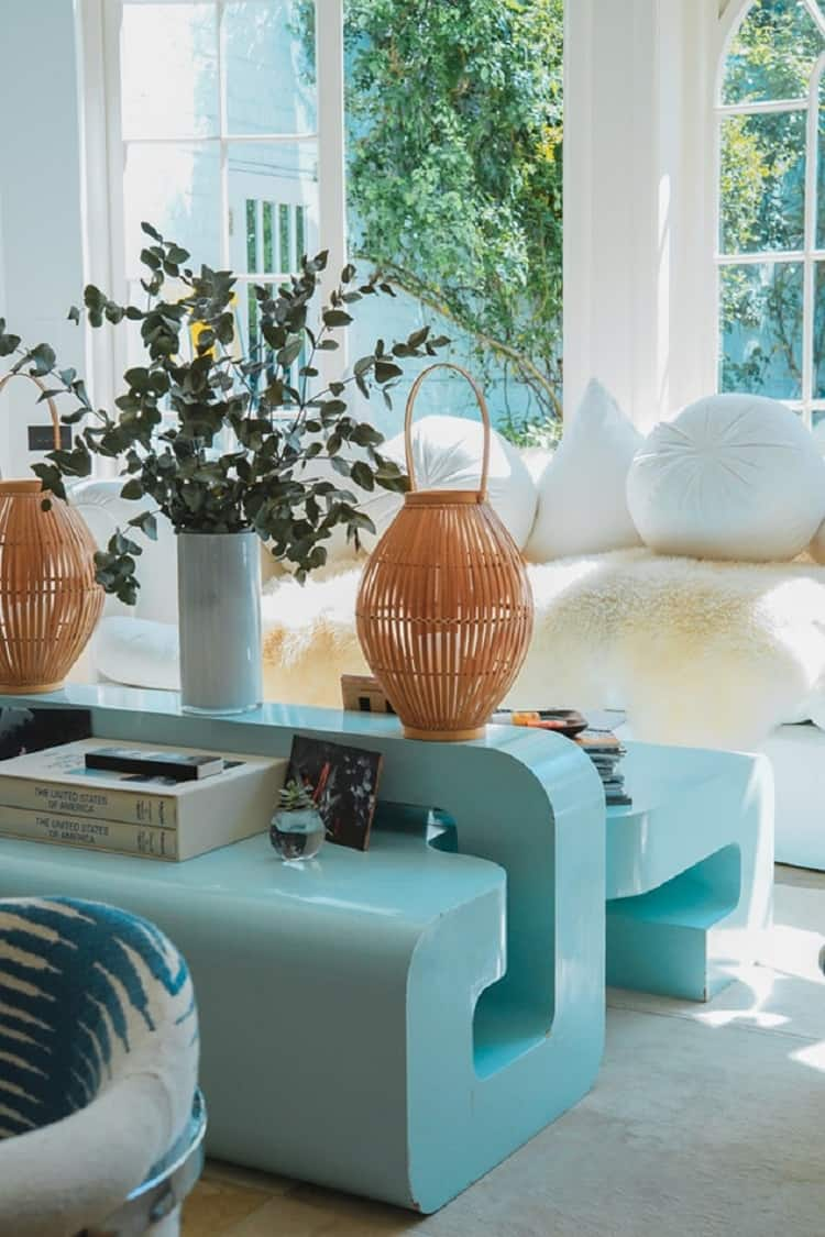 pale blue home decor