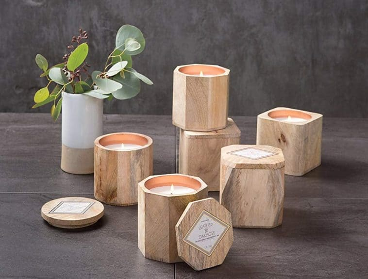 wooden candle home decor amazon