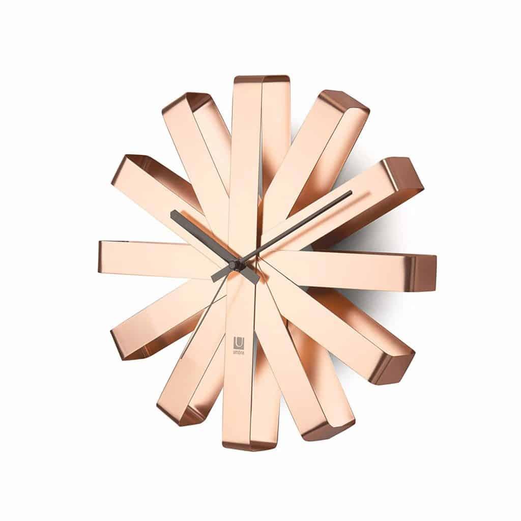 umbra copper wall clock on amazon