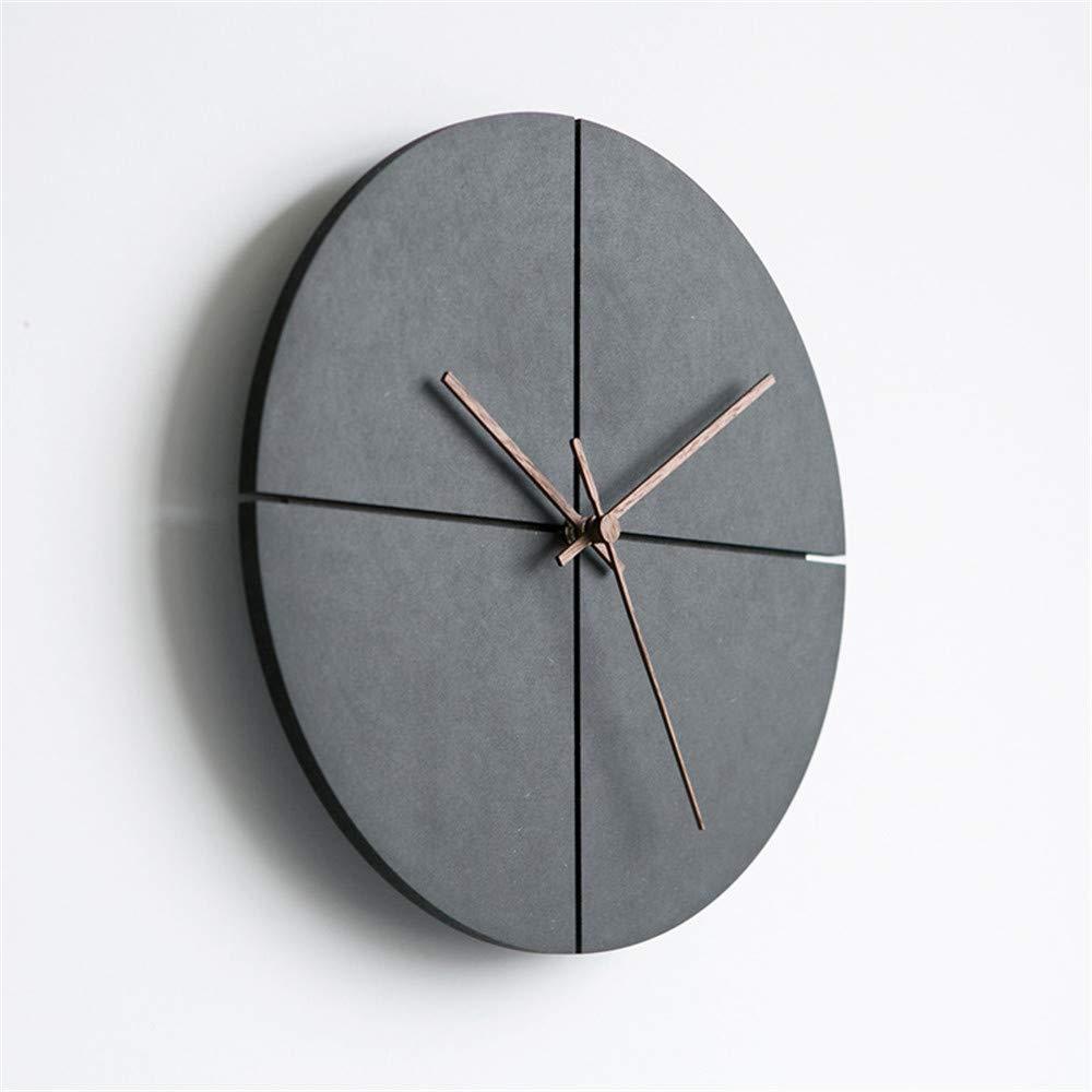 minimalist black wood wall clock