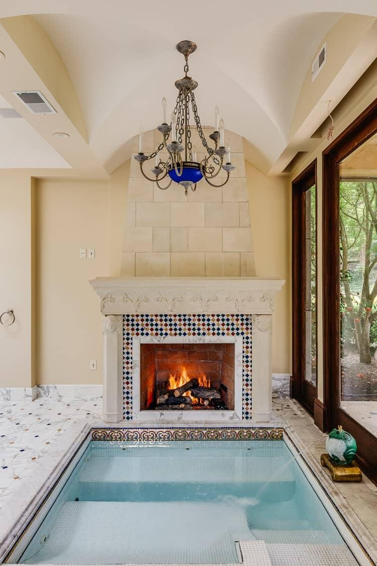 beautiful opulent fireplace