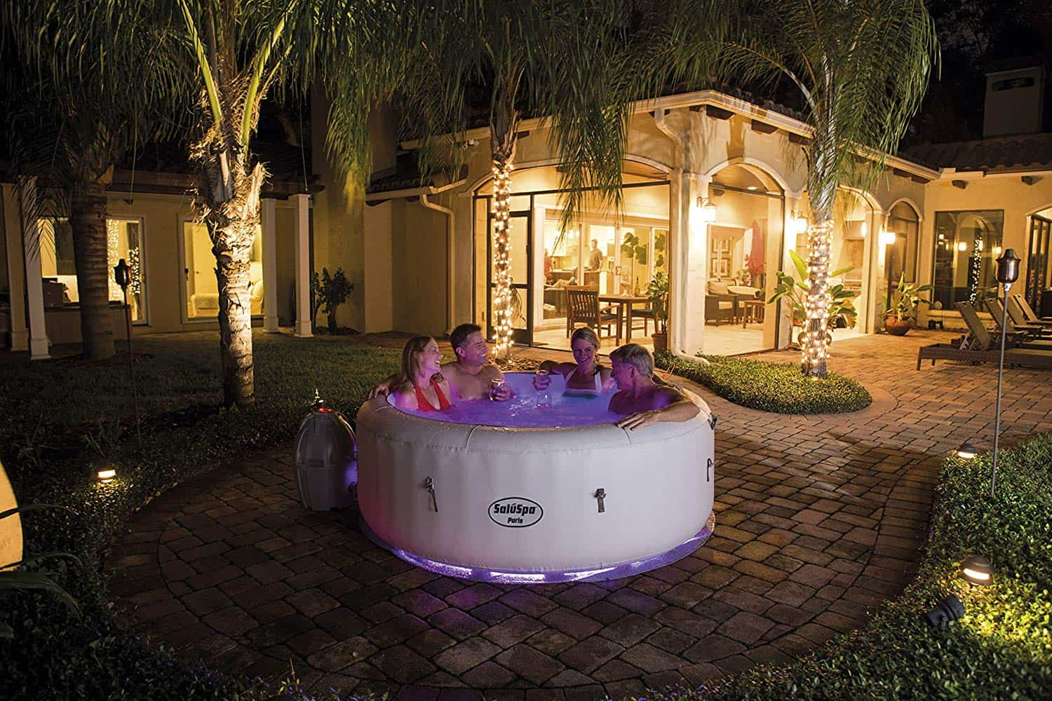 inflatable illuminated hot tub on amazon