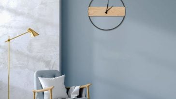 minimalist decor wall clock