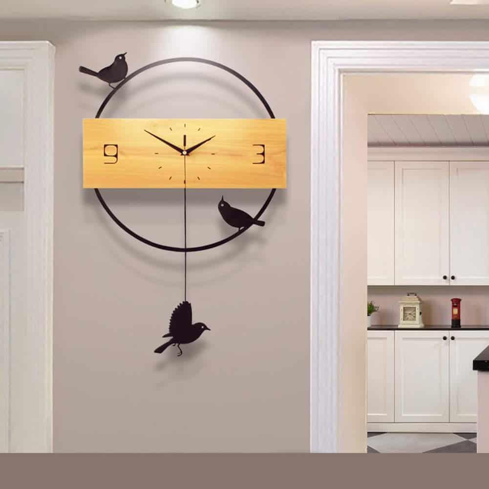 BuBu-Fu birds wall clock on Amazon