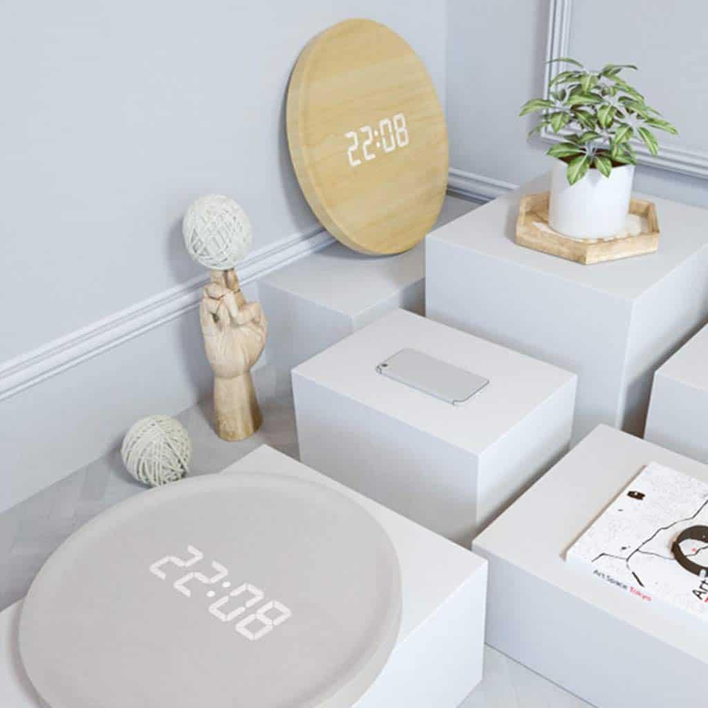 nordic minimalist intelligent wall clock