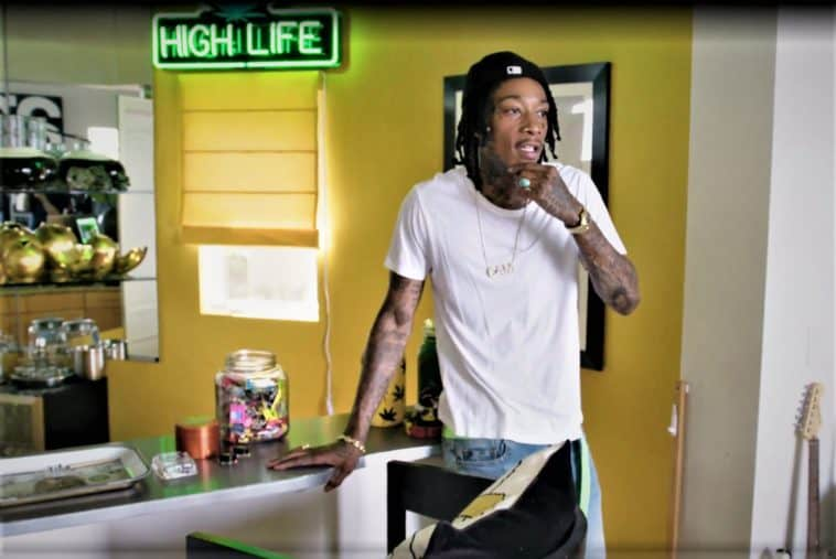 wiz khalifa at home in his dab bar