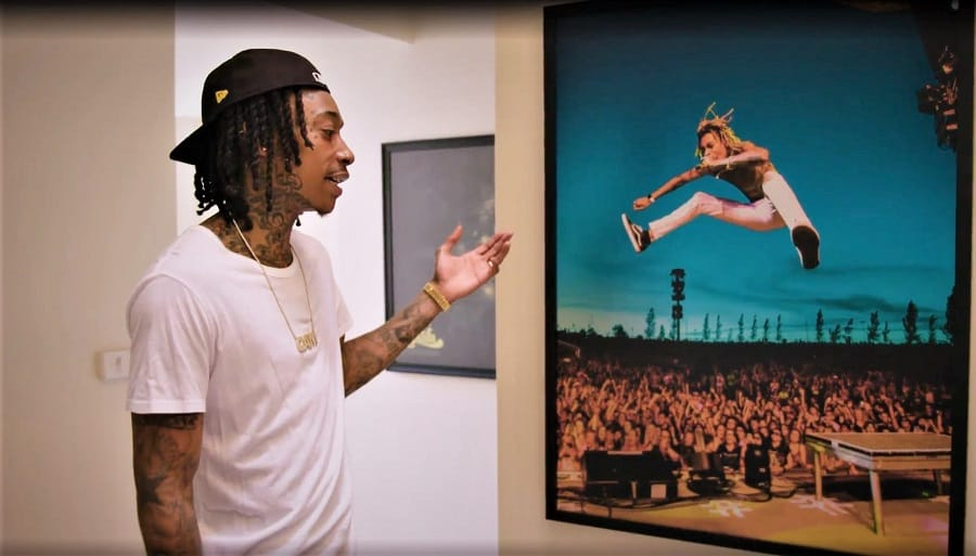 wiz khalifa at home in los angeles