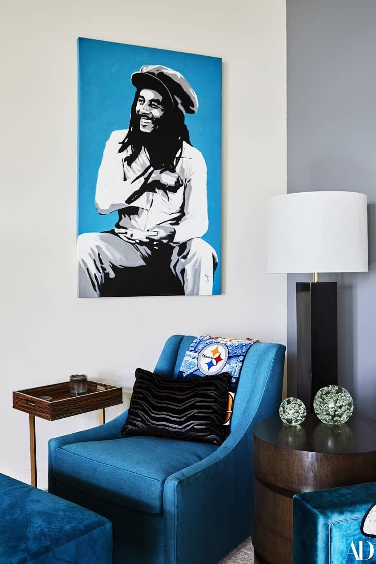 wiz khalifa house photo of bob marley on walls