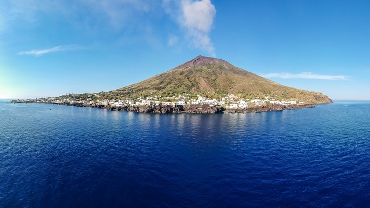 the stromboli island in sicily