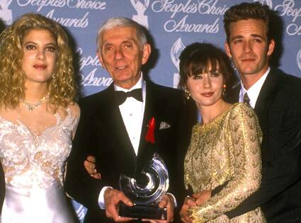 aaron spelling with 90210 cast