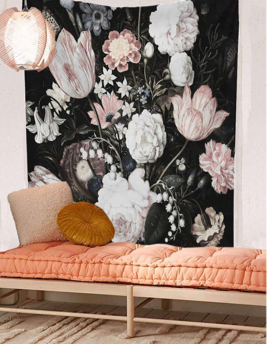 beautiful floral wall tapestry on amazon