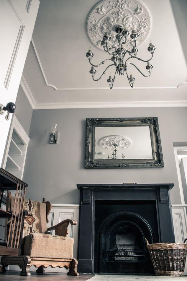 elegant chandelier in living room