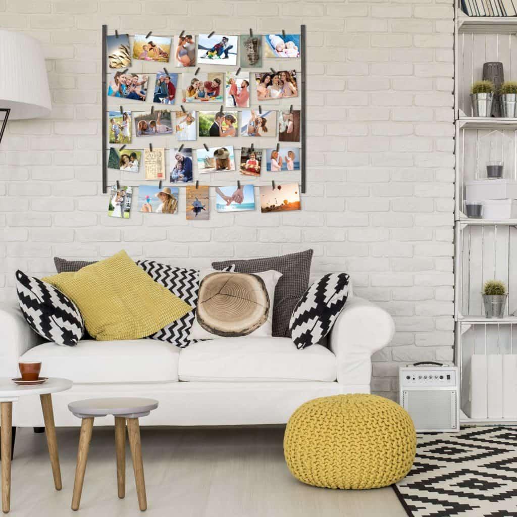 wall hanging photo display wall decor