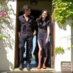 john stamos at home with wife caitlyn