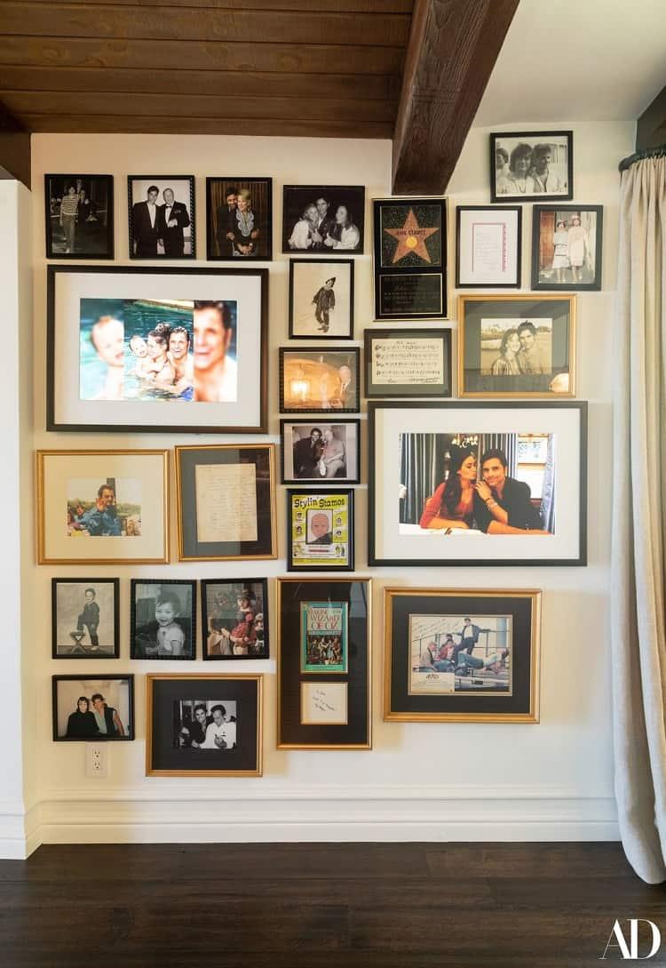john stamos house memorabilia wall