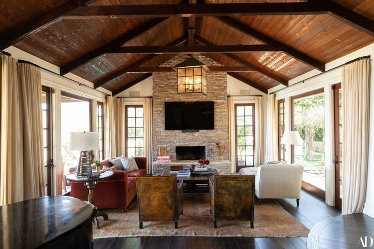 john stamos house living room