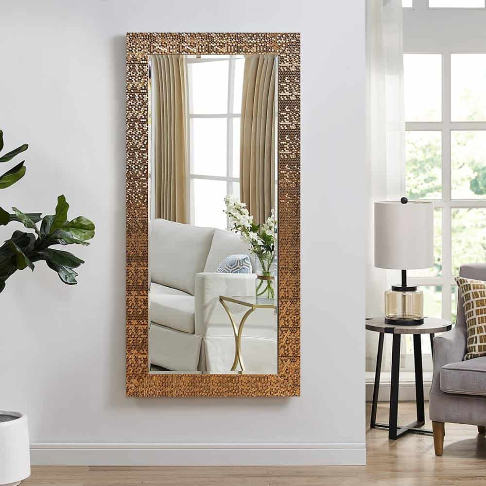 using mirrors for wall decor