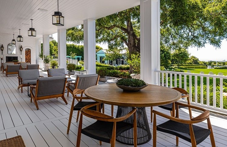 rob lowe house in montecito california  veranda
