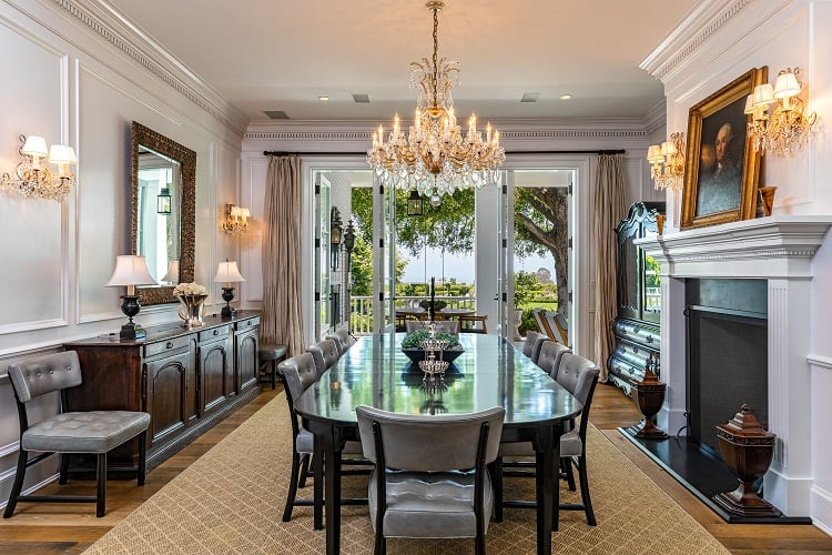 rob lowe house in montecito california dining room