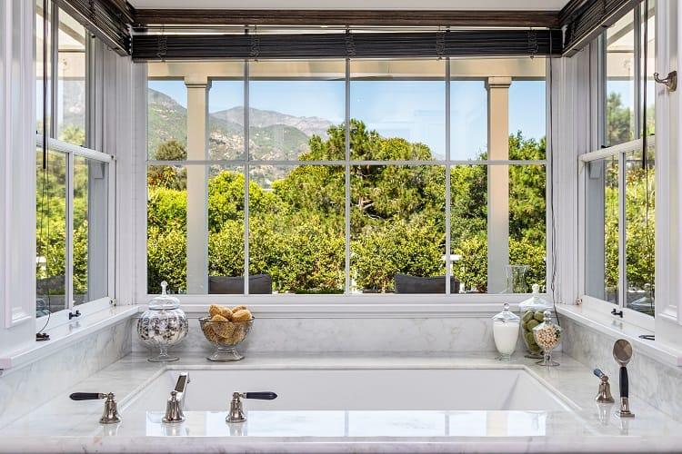 rob lowe house in montecito california bathroom