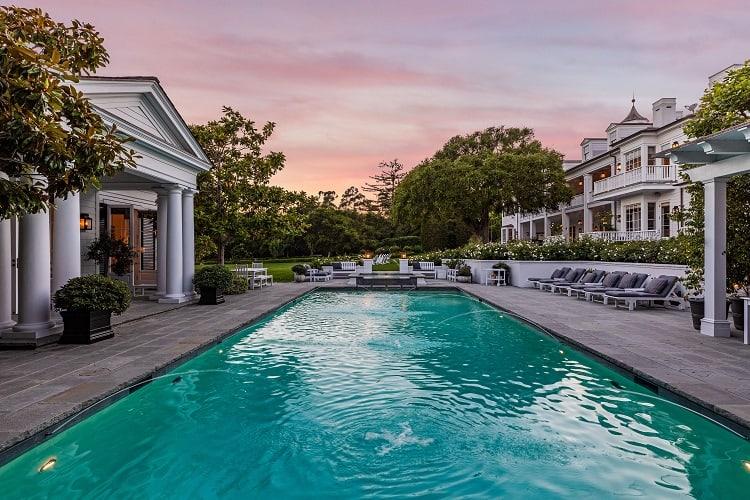 rob lowe house in montecito california pool