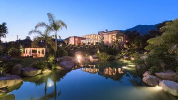 montecito mansion inspired by the Alhambra palace in Granada, Spain.