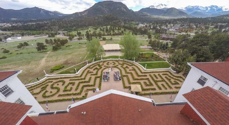 hedge maze at the stanley hotel stephen king's inspiration for The Shining