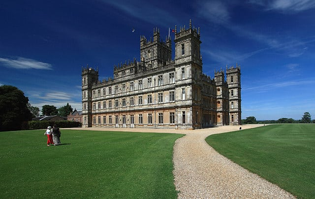 downton abbey real life Highclere Castle in Hampshire, England