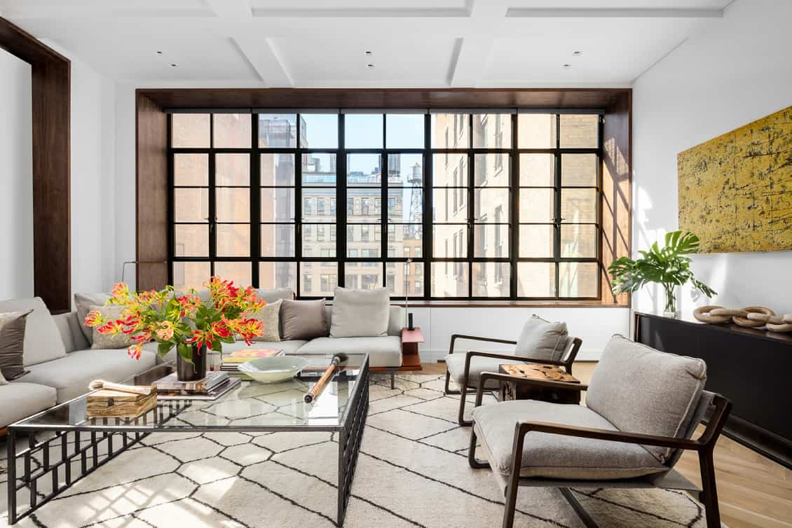 6 west 20th street condo living space