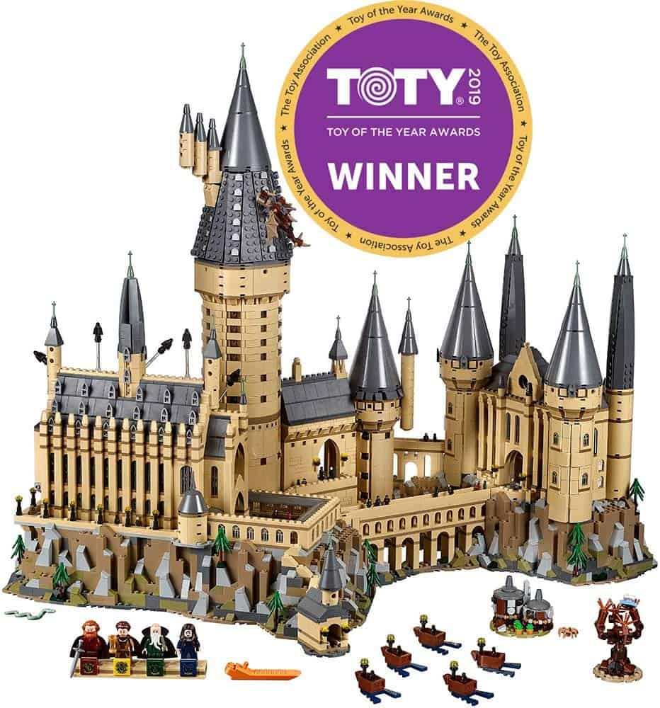 hogwarts castle lego building kit