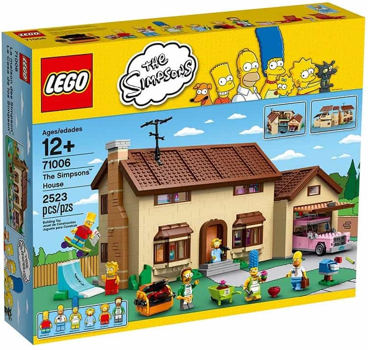 the simpsons house made from legos