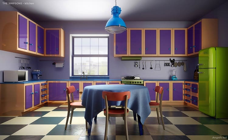 the simpsons house kitchen