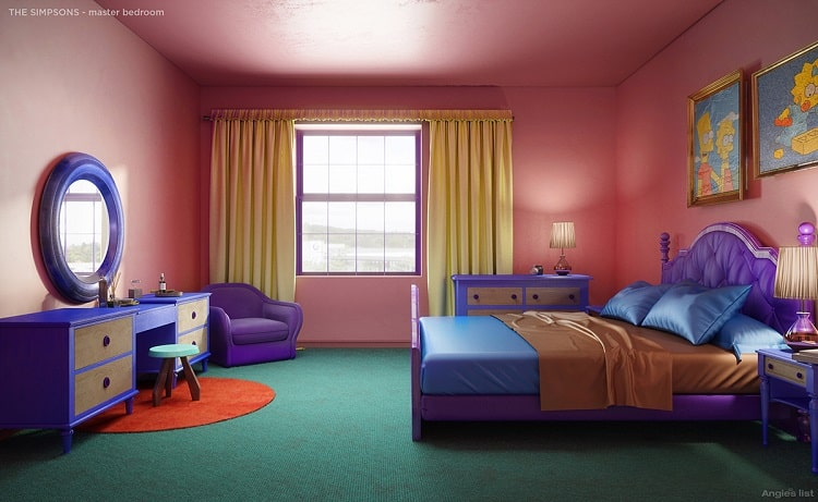 the simpsons house bedroom